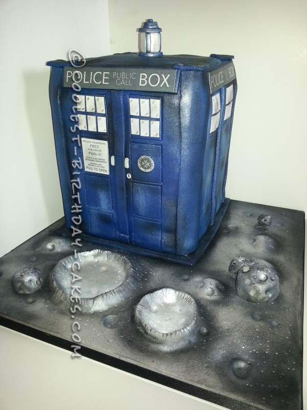 Incredible Awesome Doctor Who Tardis Cake Homemade Cake Funny Birthday Cards Online Alyptdamsfinfo