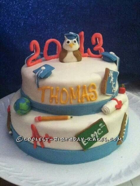 Cool Homemade Graduation Cake