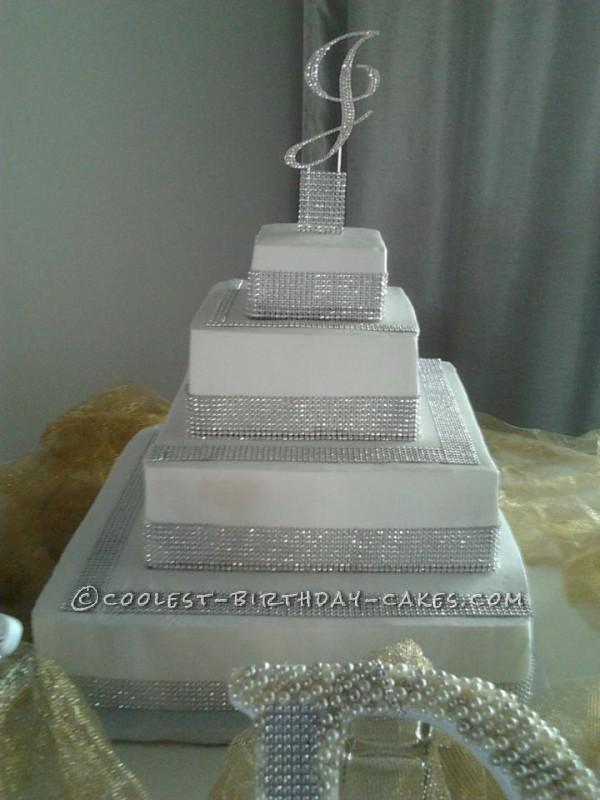 Beautiful Bling Wedding Cake
