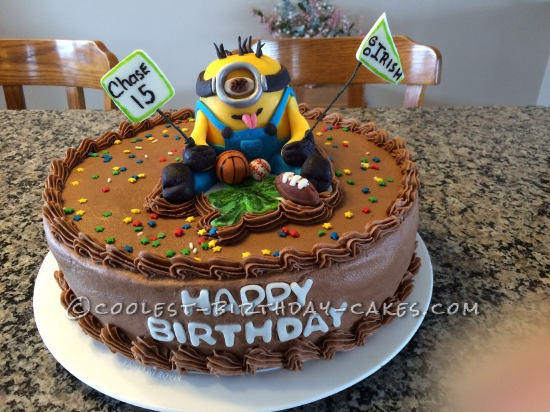 Cool Minion and Sports Cake