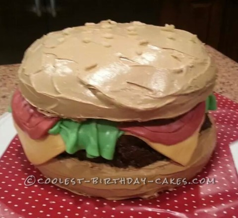 Coolest Cheeseburger Cake