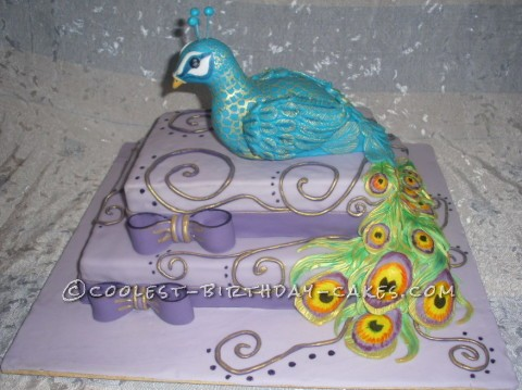 Coolest Peacock Cake
