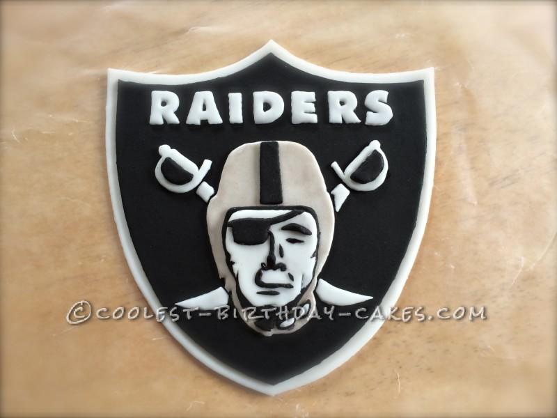 Detailed Raiders Fan Cake