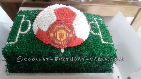 Cool Soccer Cake Made with Wilton Cake Pan