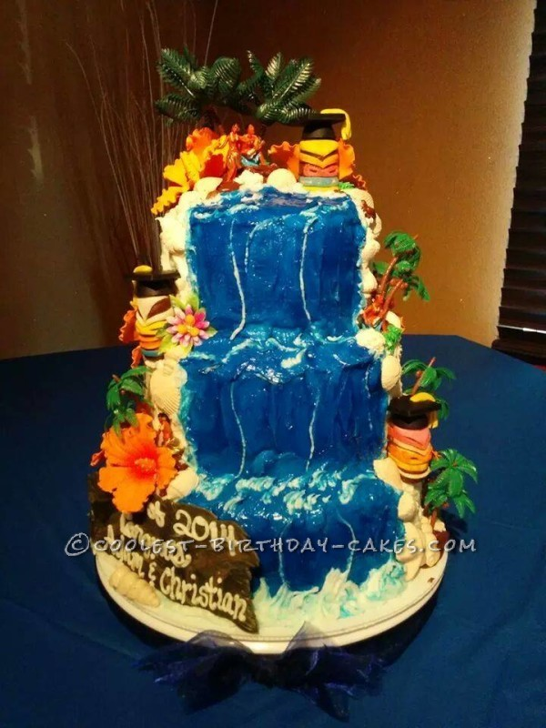 Coolest Luau Graduation Cake