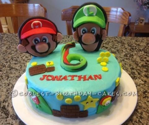 Coolest Mario and Luigi Birthday Cake