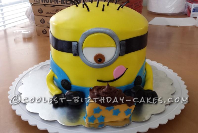 Cool 9th Birthday Minion Cake