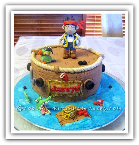 Pesky Eggless Pirate Party Cake
