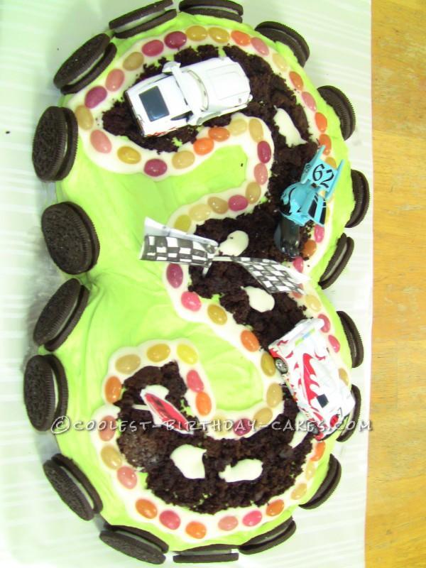 Coolest Vegan Racetrack Cake