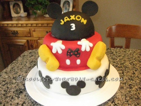 Cute Mickey Mouse Birthday Cake