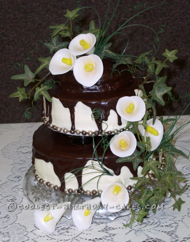 Calla Lily Wedding Reception Cake