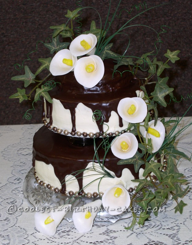 Calla Lily Wedding Reception Cake
