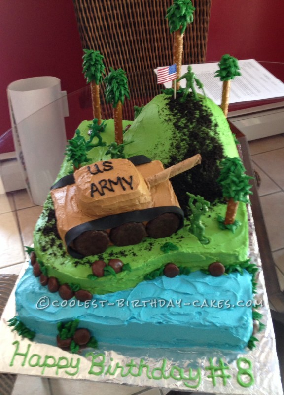 Coolest Army Tank 8th Birthday Cake