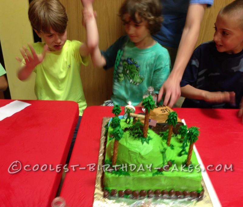 Coolest Army Tank 8th Birthday Cake