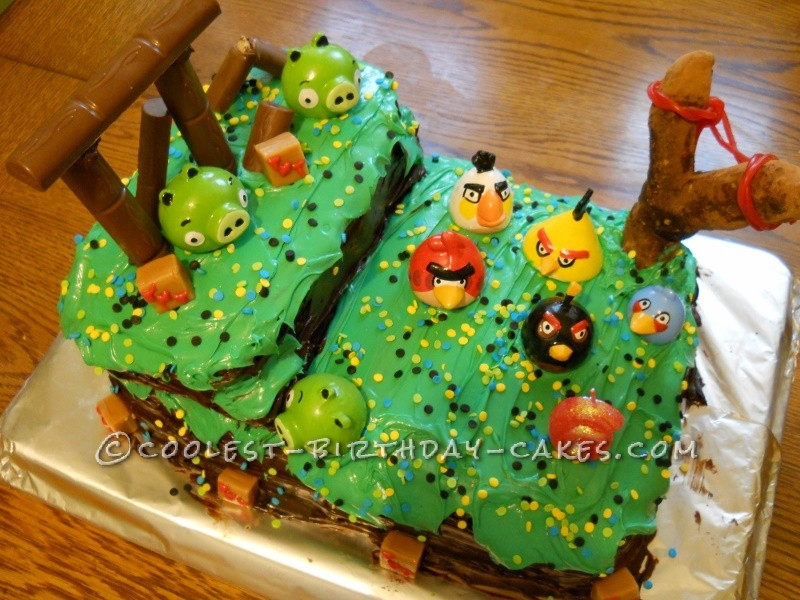 Avery's Cool Angry Birds Birthday Cake