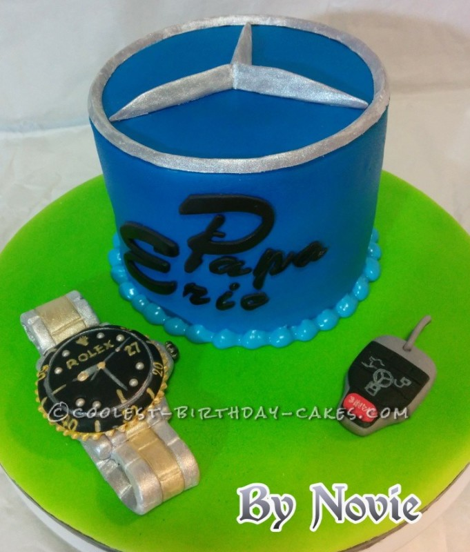 Benz and Rolex watch  cake