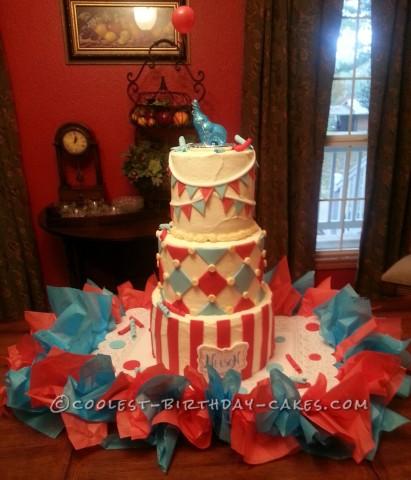Sweetest Circus Baby Shower Cake