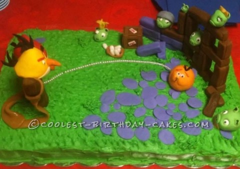 Angry Birds 10th Birthday Cake