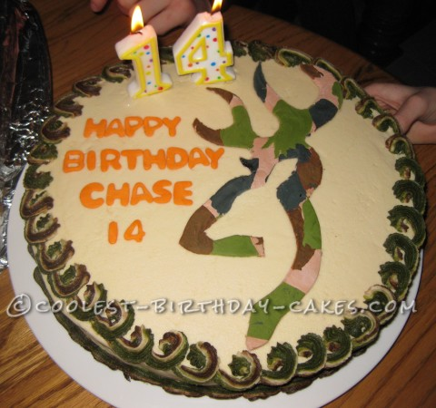 Easy Camouflage Deer Hunting Cake