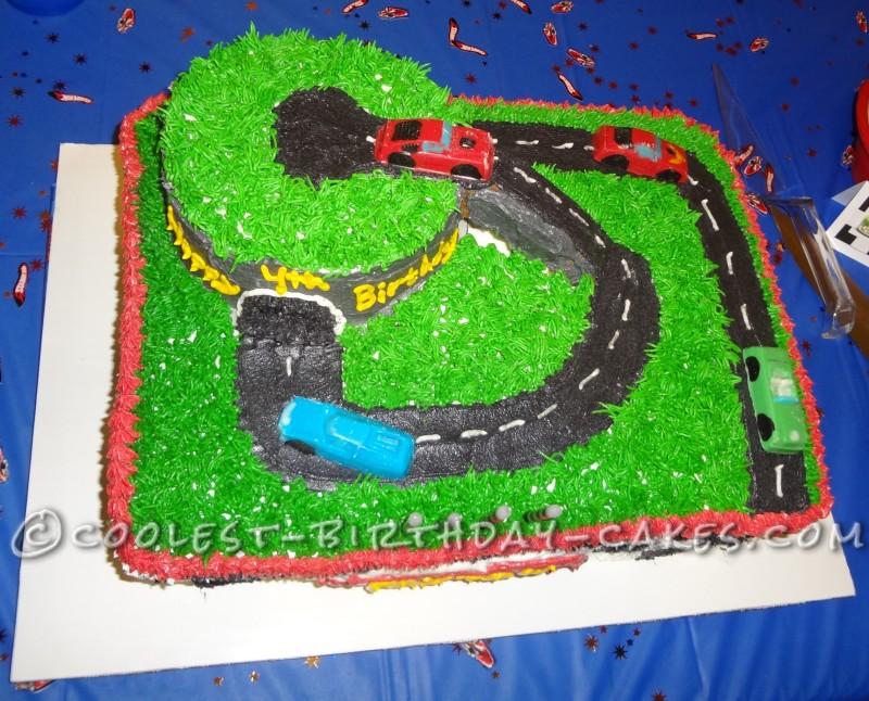 Coolest Hot Wheels Racetrack Birthday Cake