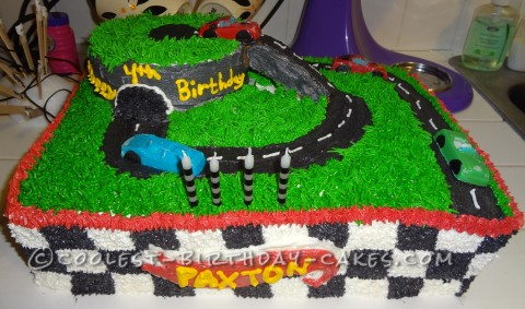 Coolest Hot Wheels Racetrack Birthday Cake