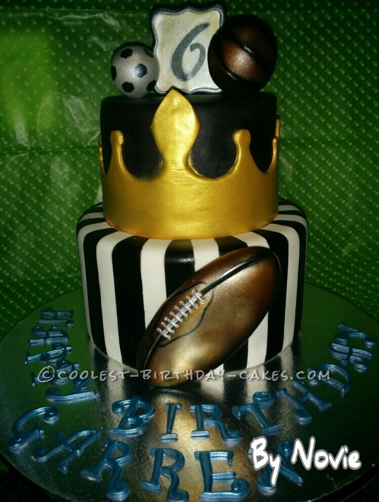 Coolest King Of Sports Theme Cake