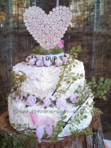 Beautiful Wedding Cakes with Silk Flowers