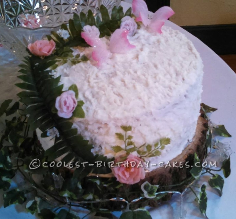 Beautiful Wedding Cakes with Silk Flowers