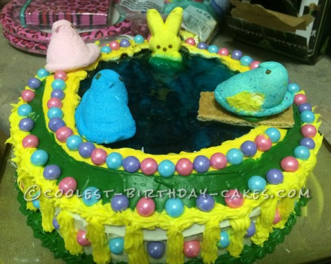 Coolest Easter Peeps 8th Birthday Cake