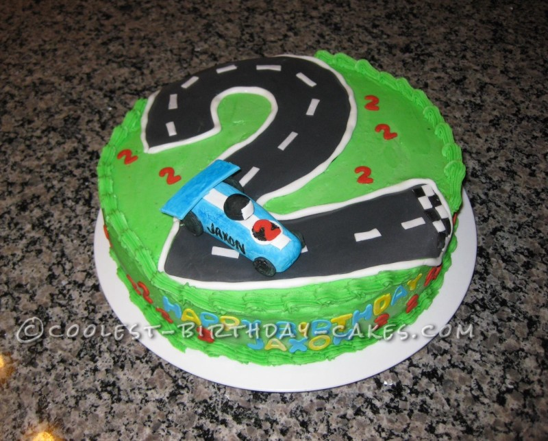 Marvelous Cool Homemade Race Car Birthday Cake Funny Birthday Cards Online Elaedamsfinfo