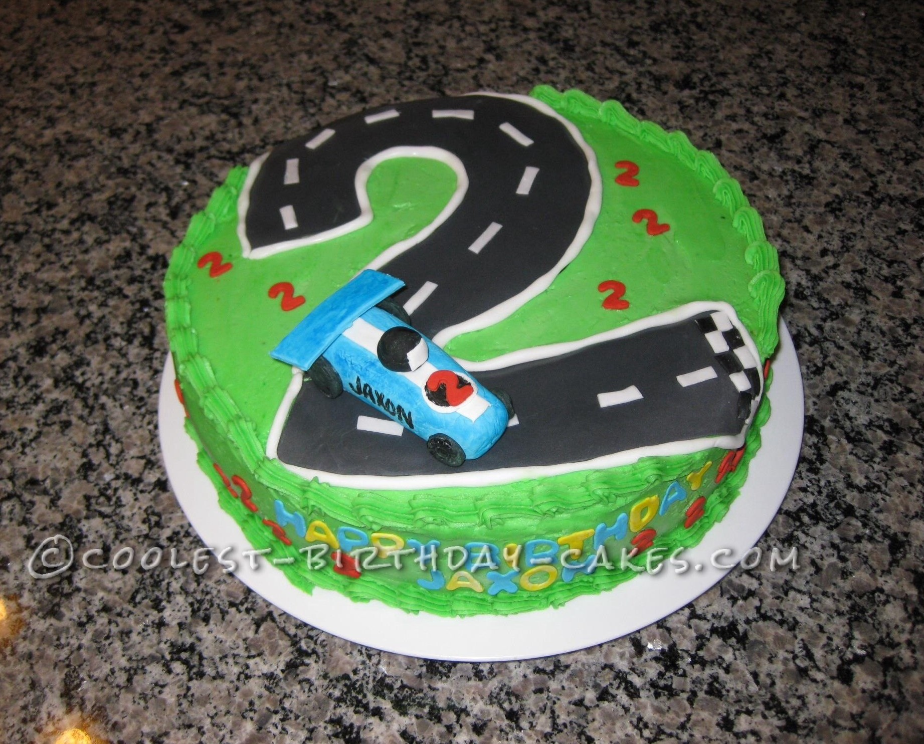 Cool Homemade Race Car Birthday Cake