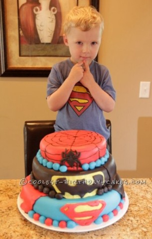 Coolest Superheroes Cake for Your Super Hero