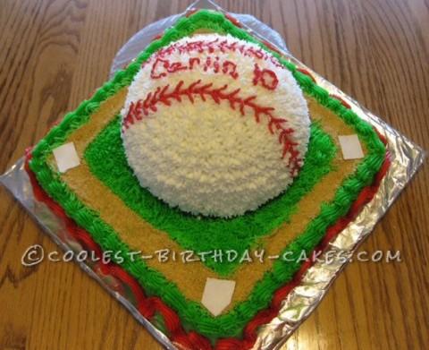 Coolest Ballpark Baseball Cake