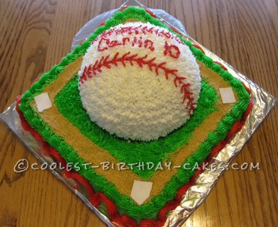 Coolest Ballpark Baseball Cake