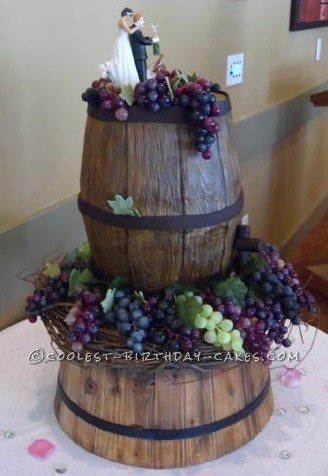 Unique Vineyard Wedding Cake