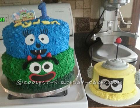 1st Birthday Yo Gabba Gabba Cake