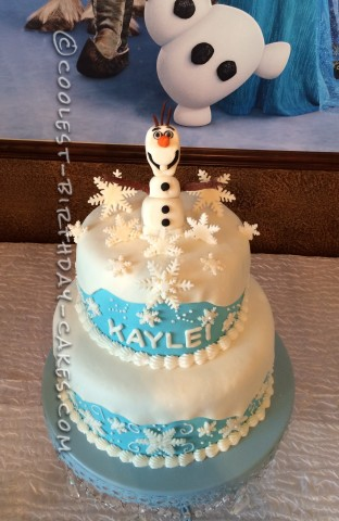 Cool Olaf Cake from Frozen