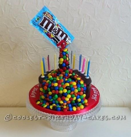 Fabulous Cool Anti Gravity Mms Birthday Cake Birthday Cards Printable Giouspongecafe Filternl