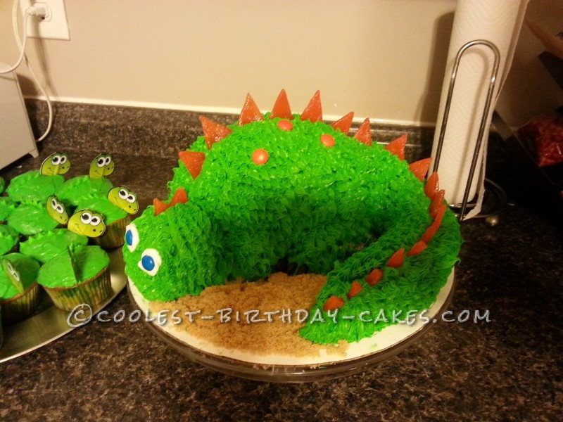 Awesome 3D Dinosaur Cake for a 4-Year Old Boy!