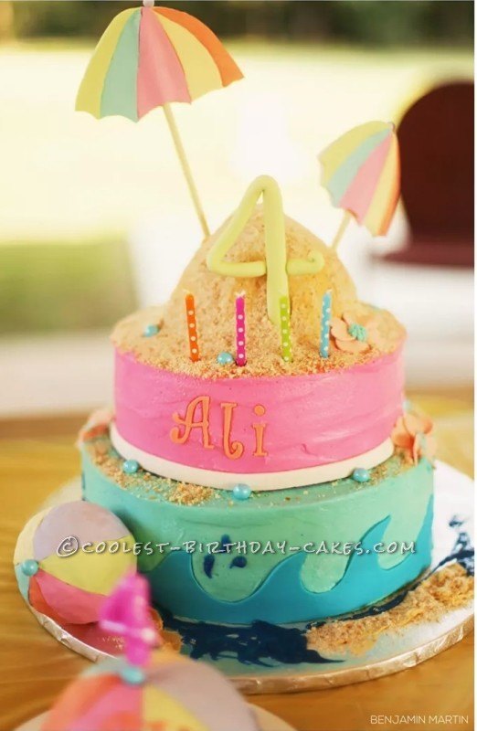 Surprising Coolest Homemade Beach Scene Cakes Funny Birthday Cards Online Inifofree Goldxyz