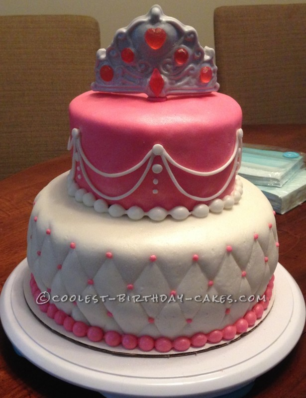 Beautiful Last-Minute Princess Birthday Cake