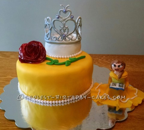 Cool Homemade Beauty and the Beast Cake
