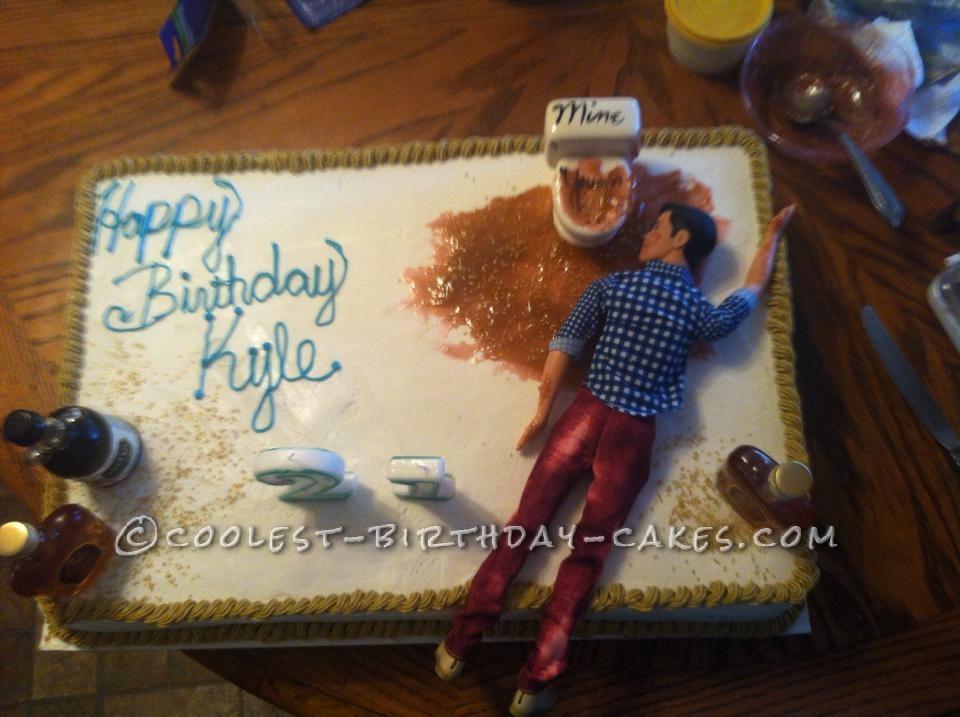 Hilarious 21st Birthday Cake