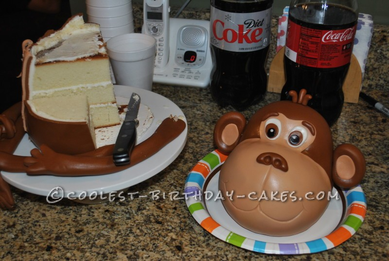 Coolest 3D Buddy the Monkey Cake