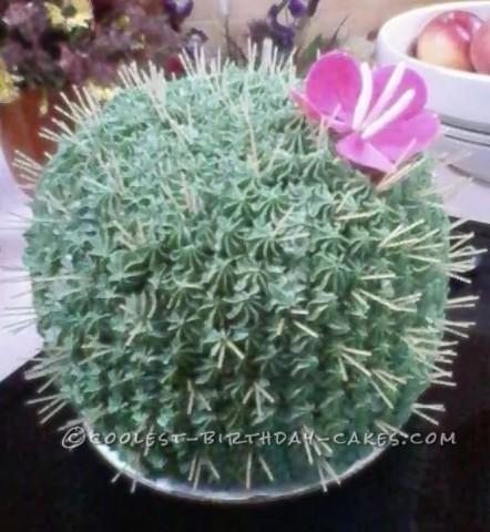 Cactus Flower Cake