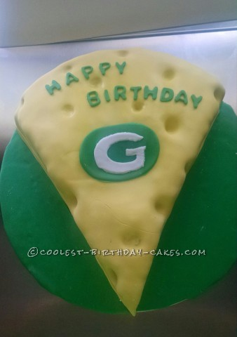 Cheese Head Green Bay Packers Cake