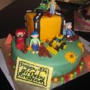 Bob the Builder Construction Cake