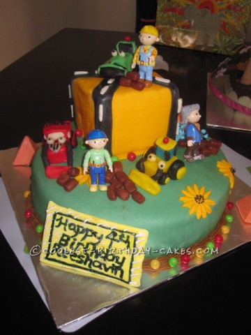 Bob the Builder Construction Cake