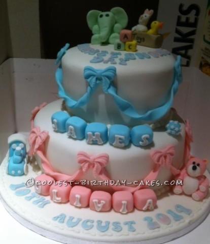 Cake Ideas For Boy And Girl : Coolest Boy Girl Christening Cake