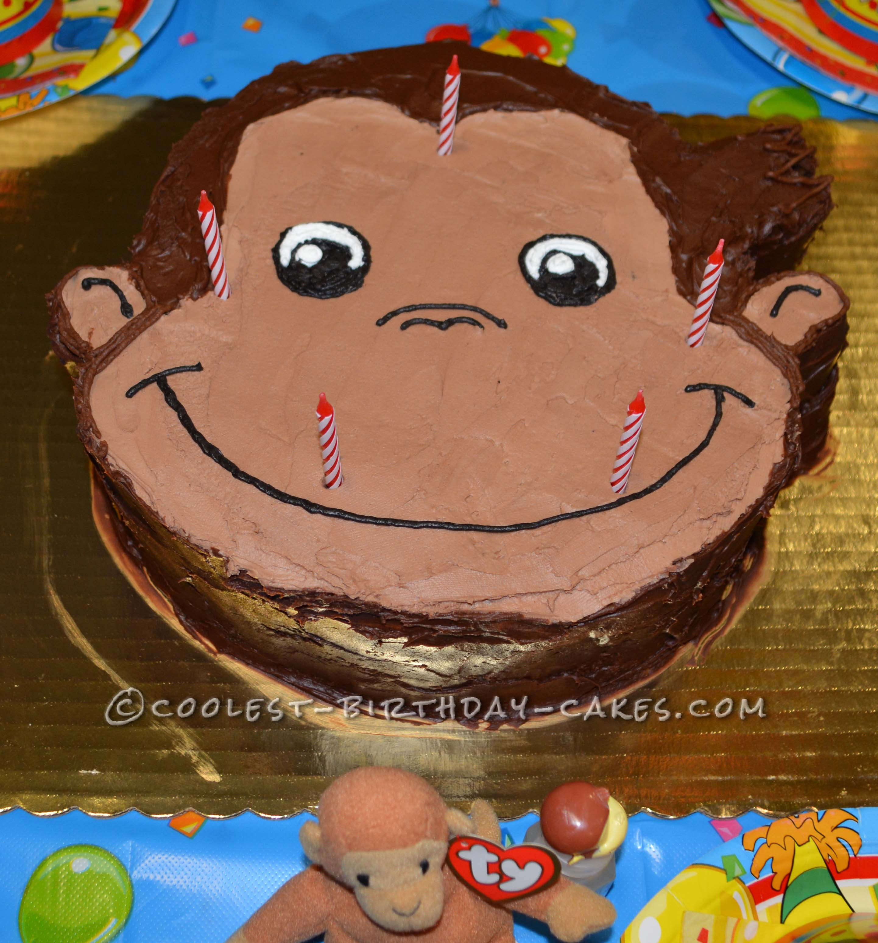 Cool Homemade Curious George Birthday Cake For A 5th